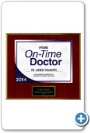 Jamie Cesaretti, MD: Vitals' On TIme Doctor's Award 2014