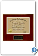 Jamie Cesaretti, MD: Most Compassionate Doctor Award 2010 Certificate of Appreciation