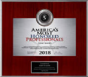 America's Most Honored Professionals 2018 Top 5 %